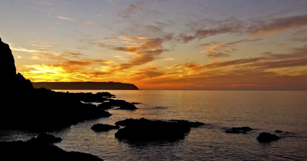 Titahi Bay sunset looking towards Mana Island