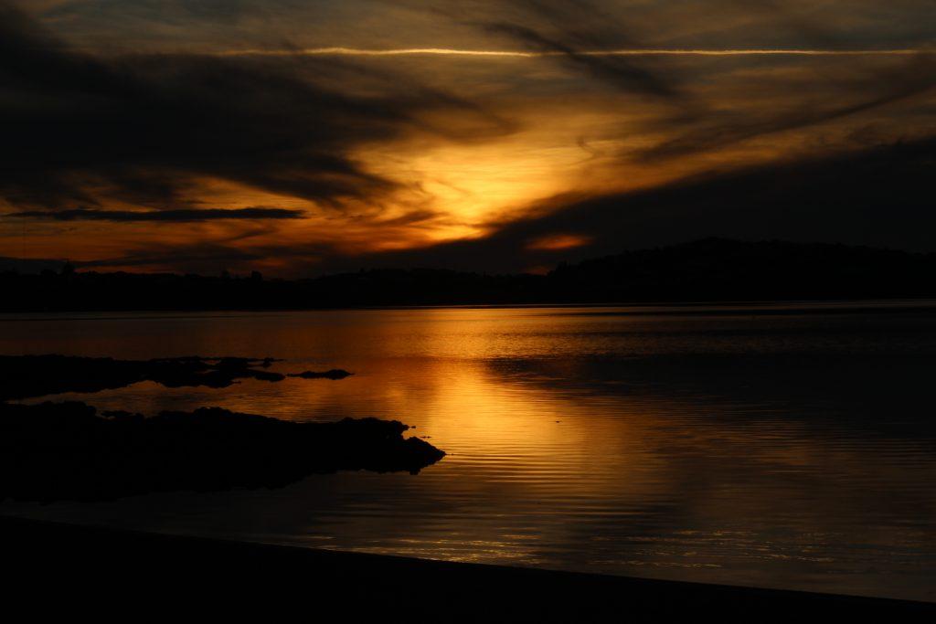 Darkened Sea and Sky